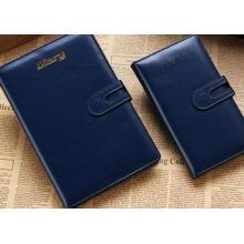 Geschäfts-Notizbuch, ledernes Notizbuch mit Mantic, Großhandelsnotizblock-Gewohnheits-Logo