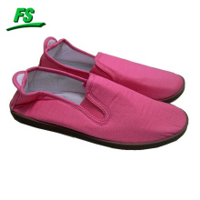 chaussures de toile d'injection de dames, chaussures de toile de dames de mode chaude, nouvelles chaussures de toile plates de conception
