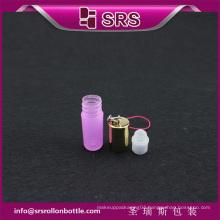 SRS pink 100% no leakage perfume roll on 3ml plastic sample bottle