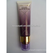 Airless cosmetic plastic soft packaging PE tube with pump