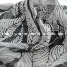 Vestido estampado de tela de gasa de moda para mujer bufanda