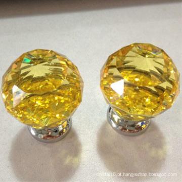 vidro amarelo bola de cristal identificador empurrar puxar os botões por atacado