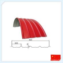 China Wiskind pré-fabricada chapa de telhado de aço telhado