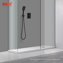 European standard stone base artificial resin rectangle shower trays bathroom pan
