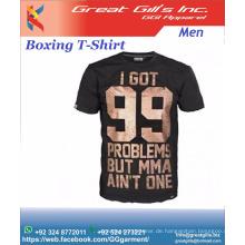 Kundenspezifischer T-Shirt-Druck 100% gekämmte Baumwolle für MMA-Liebhaber