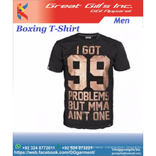 Customize Printing Logo MMA Boxing Fighters Cotton Tee Shirt / Boxing Apparel and Gear