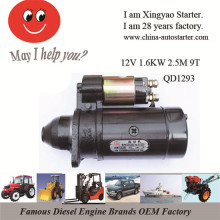 1.6kw 12V 3m 9 Teeth Pinion Electric Car Motors (QD1293)