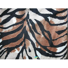 Zebra Patterns Printed Polyester Velvet Fabric