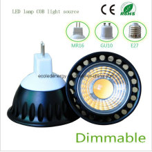 Dimmable 5W MR16 Black COB LED Light
