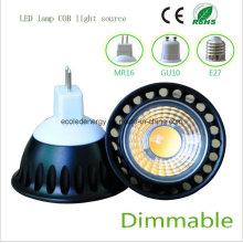 Dimmable 5W MR16 Preto COB Luz LED