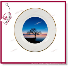 Hot! 10′′ Ceramic Plate with Golden Rims