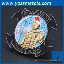 Fabricant personnalisé marine corps monnaie métal artisanat