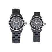 Promotional Gift Black Ceramic Ring Surface Black Ceramic Watches For Man And Women