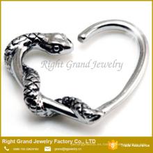 Moda serpiente Daith corazón anillo 16g Tragus cartílago