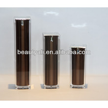Cosméticos cuadrados de lujo Acrylic Airless Pump Container 15ml 30ml 40ml 50ml 100ml