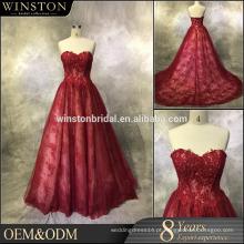 Alta qualidade Custom Made dupla camada de renda elegante vestidos de noiva