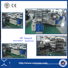 Ligne de machines d'extrudeuse de feuille / panneau de polypropylène