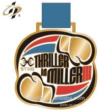 Superseptember Großhandel Zink-Legierung benutzerdefinierte bunte Boxen Sport Medaillen
