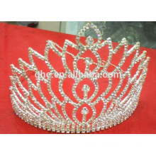 big stone pageant crown big pageant tiara crown rhinestone crystal crown for pageant girls tiara crown
