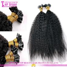 Kinky reta U dica cabelo Popular Top Quality atacado u cabelo extensões ponta