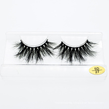 5D 25mm Mink Eyelashes Private Label Custom Packaging Box 3D Mink Lashes