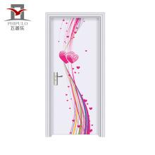 Novo estilo de qualidade garantida porta de madeira barata de aço Eco-Friendly do quarto