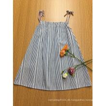 lässig gestreift A-Form-Strapy-Mädchenkleid