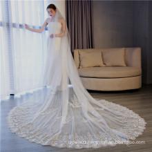 2020 wholesale price excellent plain long wedding veil  lace