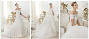 New Arrival Backless Strapless Lace Flower a-Line Wedding Dresses, Bridal Gowns (ML 00196)