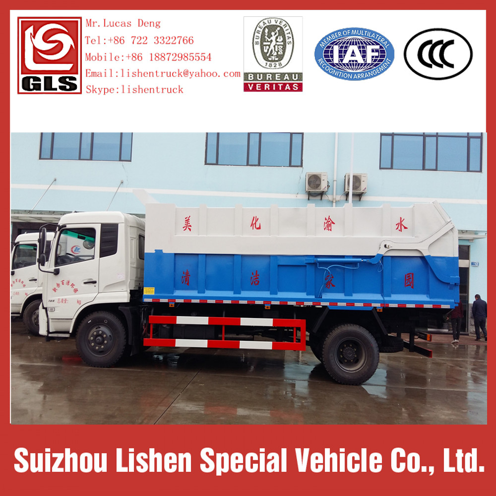 15m3 Garbage Compactor Dongfeng Compressed Truck Prices