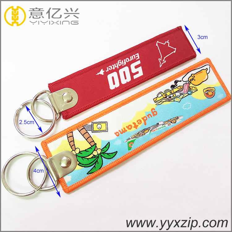 Cheap Embroidery Key Tag
