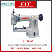 Compuesto de cama de cilindro máquina de coser de la alimentación