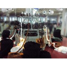 Véritable Machine à tricoter circulaire informatisée Jacquard en peau artificielle