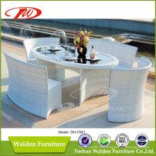 Conjunto de comedor de mimbre de muebles de jardín (DH-7061)