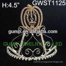 Atractiva calabaza de Halloween calavera personalizada cristal tiara-GWST1125