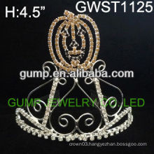 Attractive Halloween pumpkin pageant custom crystal tiara -GWST1125