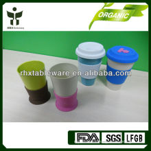Green lifestyle bamboo cups with sleeve
