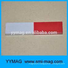 Alnico red and white painted education magnet bar