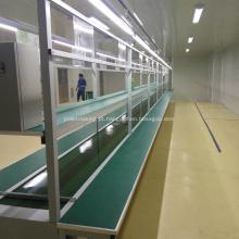 Sistema automatizado de correia transportadora de paletes em aço inoxidável