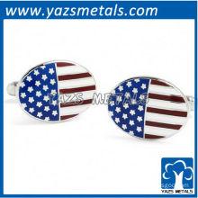 Custom USA flag cufflink