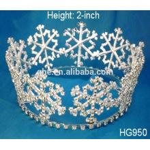 Anna tiara design adorable rose rhinestone enfants princesse tiare tiare et couronne envoient la couronne