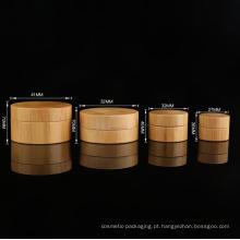 Wholesale 5/10/30/50ml Bamboo Cosmetic Bottle Wood Bamboo Cream jar