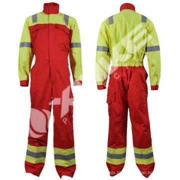 Vestuário de alta visibilidade retardante de chama de algodão com antiestático