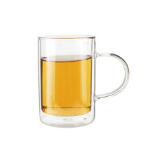 Promotional Hot Selling Double Wall Two-Layer Borosilicate Glass Tea Mug Cup For Tea Coffee Espresso Cappuccino Latte Beer Milk