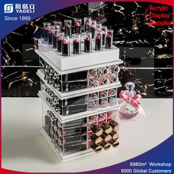 Fashionable Clear Acrylic Lipstick Display