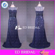 ED Bridal Beautiful Real Sample Picturers Beaded Mermaid Sleeveless Zipper Evening Dresses 2017