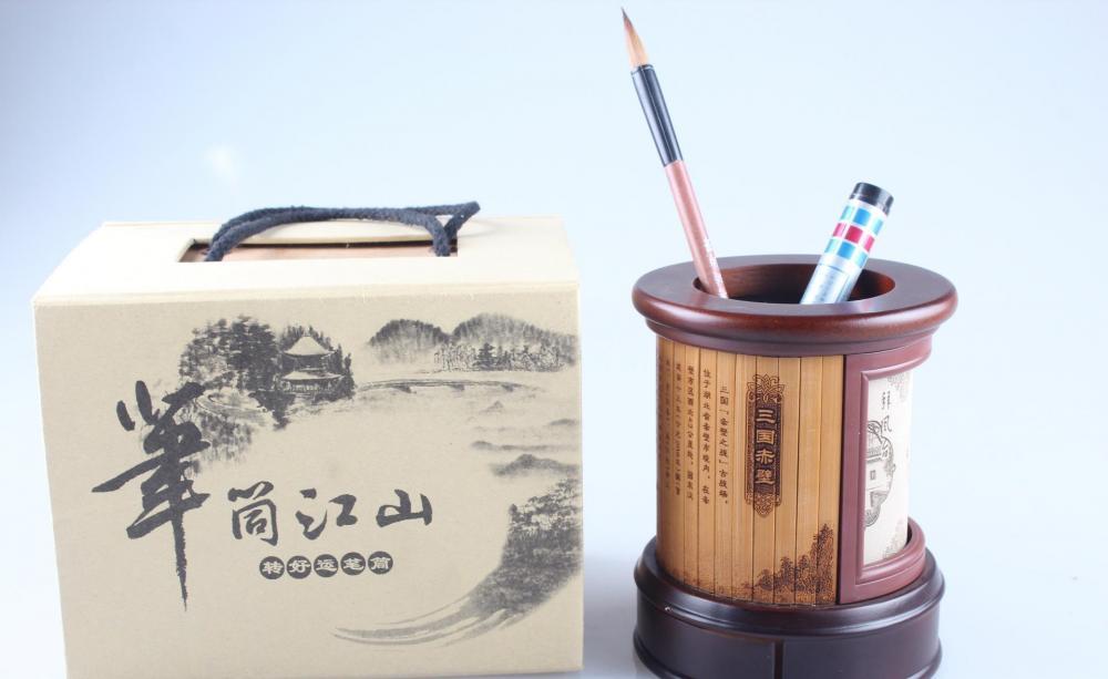 Bamboo Carving Penholder