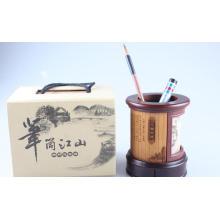 Suporte de caneta de bambu fino