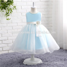 girls ball gown girl's party dress blue color customize size flower girl dresses