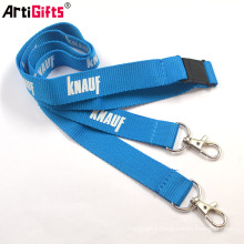 Cheap Custom yarn woven printed polyester lanyard